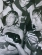 Manly skipper, Fred Jones celebrates the Sea Eagles' 1972 grand final win over the Roosters. Allan Thompson is behind him and Terry Randall on the right.